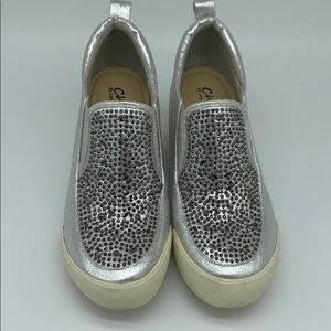 Shoes - Silver wedge shoes